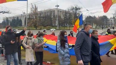 Photo of live | De 1 decembrie, la Chișinău se desfășoară marșul unui tricolor de 102 metri