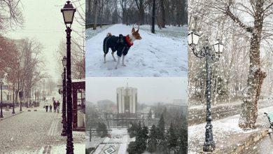Photo of foto, video | Topiți de dorul zăpezii, moldovenii au ieșit să se joace cu fulgii. Codul portocaliu de ninsori, surprins în imagini