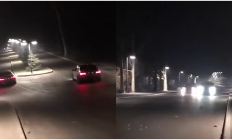Photo of video | Cursă auto nocturnă în parcul Valea Trandafirilor. Doi șoferi, filmați cum gonesc printre copaci. Înregistrarea a ajuns pe TikTok