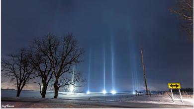 Photo of foto | Fenomen spectaculos în SUA: Coloane de lumină au fost observate pe cerul nocturn. Specialiștii explică cum s-au format