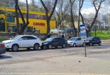 Photo of video | Nu a frânat la timp. Momentul accidentului în lanț de pe strada Muncești, surprins de o cameră de supraveghere
