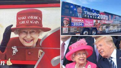 """Photo of Scandal între Palatul Buckingham și proprietarul """"autobuzului Trump"""". Regina, nemulțumită că fotografia ei este amplasată pe vehicul"""