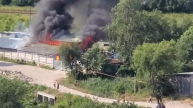 Photo of update, foto   Incendiu puternic în centrul capitalei. Patru echipaje de pompieri au ajuns la fața locului