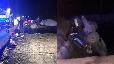 Photo of Mașini prăbușite în groapa săpată pentru reparația unui pod. Trei persoane, inclusiv doi minori, au suferit traumatisme