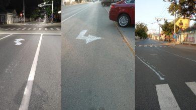 Photo of foto | Artă urbană sau cuțit la os? Un șofer a desenat cu cretă marcajul rutier pe o stradă din Chișinău