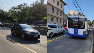 Photo of foto   Chișinău: Au început lucrările de amenajare a benzilor dedicate transportului public