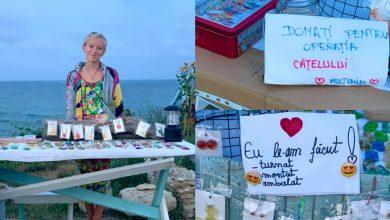 Photo of foto, video | Face bijuterii și le vinde pe litoral pentru a-și salva cățelul. Povestea unei fetițe de 11 ani care a impresionat România