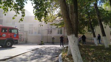 Photo of foto | Incendiu în incinta unui colegiu din capitală. Au intervenit patru echipaje de pompieri