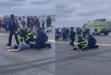 Photo of video | Pasager reţinut şi avion evacuat de urgenţă pe aeroportul LaGuardia din New York