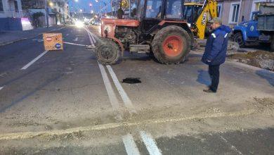 Photo of foto | O porțiune din strada Ismail risca să se prăbușească din cauza rețelelor subterane defecte